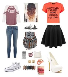 """""""Untitled #136"""" by polyvoretwins ❤ liked on Polyvore featuring Michael Antonio, rag & bone, Converse, Topshop, Ruby Rocks, Urban Decay and Charlotte Tilbury"""