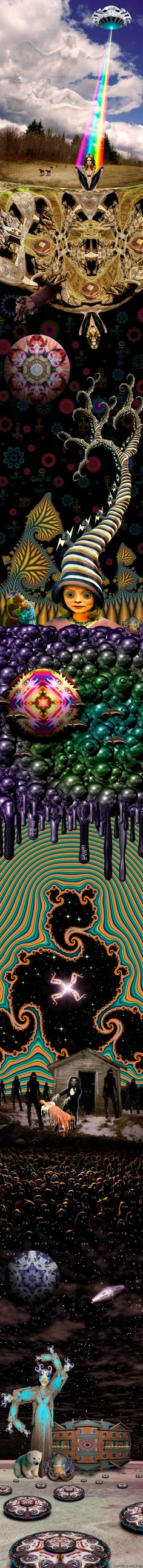 THE MAGIC FLESH AND BLACK LIGHT SHOW    Larry Carlson!