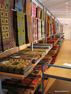 Selection of Wax prints at the Vlisco shop in Helmond