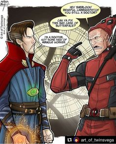 Doctor Strange and Deadpool - visit to grab an unforgettable cool 3D Super Hero T-Shirt!