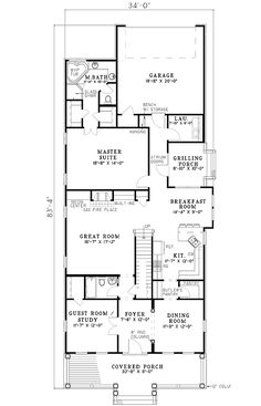 101 Best House plans with view on side images | House plans ...  Garrell House Plans on