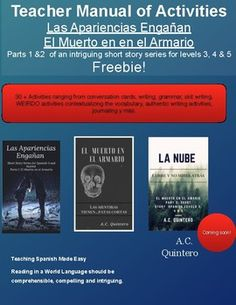 Free Teacher's Manual with  Spanish Novel for Spanish Levels 3 and 4 Great for your FVR/SSR Library or Use this TM to read as a class (print version coming soon)30 + Activities that include reading comprehension, grammar activities, WEIRDO and contextualizing the subjunctive activities, conversations cards, advice-giving activities, making predictions, reader's theater y ms.