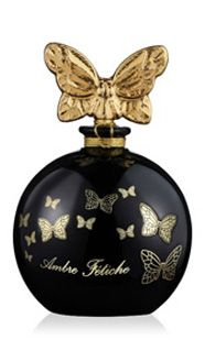 Annick Goutal - Ambre Fetiche. I love amber, and so I must try this. Plus, what an exquisite bottle! Notes: amber, frankincense, labdanum, styrax, benzoin, iris, vanilla, leather.