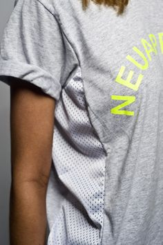Mesh Panel Boyfriend Gym Tshirt – NEU Apparel