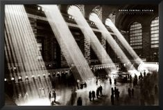 Professionally Framed Grand Central Station (Sunlight) Photo Print Poster - 24x36 with RichAndFramous Black Wood Frame *** Learn more by visiting the image link. (This is an affiliate link) #ModernHomeDecor