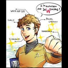 I love Pavel Chekov!