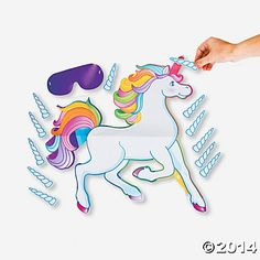 Pin the Horn on the Unicorn Game - Oriental Trading