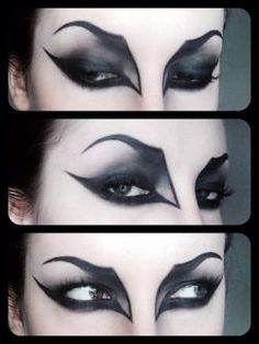 Halloween wants to look GREAT with your vampire fangs ! – Halloween Make Up Ideas Yeux Halloween, Halloween Bats, Halloween Face Makeup, Kids Witch Makeup, Halloween Ideas, Simple Witch Makeup, Haloween Mask, Zombie Makeup Easy, Terrifying Halloween