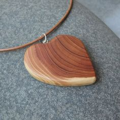 Love heart necklace   unique wood jewelry   by NaturesArtMelbourne,