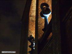 F. Gräsel Installation Kolosseum bei Nacht