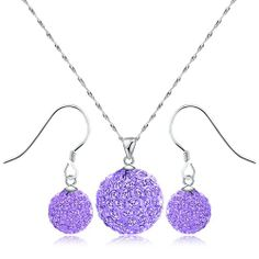 925 Sterling Silver Austrian Crystal Pendant and Earrings Set (The purple Pendant and Earrings Set) Merdia,http://www.amazon.com/dp/B00CQER8AI/ref=cm_sw_r_pi_dp_rSDYsb1XV7T7NF77 Really like this set Mom and Nichole