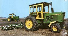 Old John Deere Tractors, Jd Tractors, Vintage Tractors, Vintage Farm, John Deere Equipment, Old Farm Equipment, Heavy Equipment, Classic Tractor, Mean Green