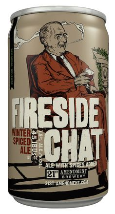 Fireside Chat Winter Spiced Ale // 21st Amendment Brewing Co.