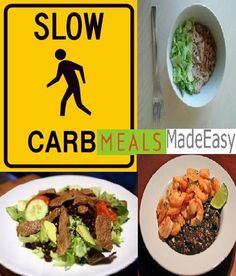 Slow carb eating made easy...   Click the link to see this page...full of recipes and meal ideas!!