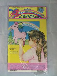 Vintage Pin The Tail On The Pony Game My Little Pony