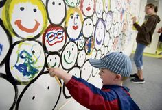 The smiles painted on a canvas mounted on a wall at the Westmoreland Museum of American Art on Sunday were enough to make visitors, well, ...