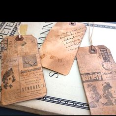 DIY vintage luggage tags