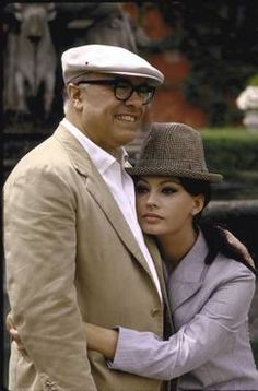 Sophia Loren & Carlo Ponti Married 41 years, this is such a wonderful love story. She always shows him so much love and admiration.