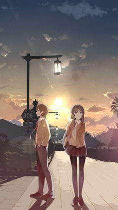Cute Anime Pics, Cute Anime Couples, Anime Love, Otaku Anime, Manga Anime, Mai Sakurajima, Japanese Animated Movies, Anime Scenery, Animes Wallpapers