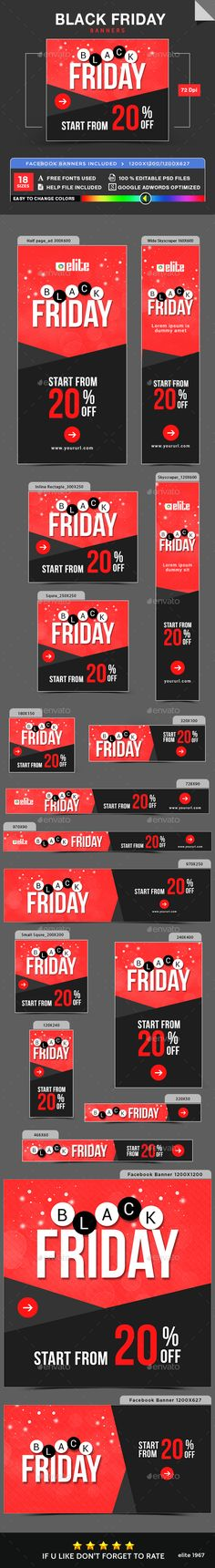 Black Friday Banners  Psd Templates Black Friday And Banners