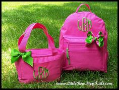 S Audrey for kindergarten? Gift Set of 3 - Hair Bow, Monogrammed Backpack, Lunchbox - Triple Initials Personalized Solid Color Girls Back Pack Book Bag kids childrens Little Bow, Little Ones, Kindergarten Gifts, Monogram Backpack, School Shopping, School Organization, Kids Bags, Precious Moments, My Baby Girl