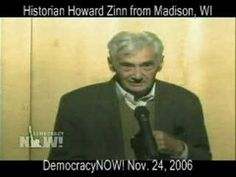 """""""I'm living in an occupied country...aliens have taken over the country..."""" Historian Zinn"""