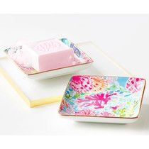 lilly pulitzer soap dish.