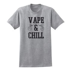Vaping is the new breathing. Let everybody know that you're about that life. Your new t-shirt is made from 100% Fine Jersey Cotton. These shirts do have a slimmer fit to them so we recommend sizing up