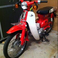 Road ready and legal :) Vintage Honda Motorcycles, Cars And Motorcycles, Moped Motorcycle, Honda Passport, Minibike, Honda Cub, Honda Motors, Mopeds, Vespa
