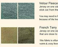 How to Pick Fabric for your Hoodie