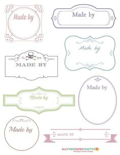 Printable Victorian Labels for Handmade Crafts: these labels have a classic, vintage look and will happily adorn any handmade card or gift you give.