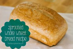 Previously, I shared my Quinoa Bread Recipe, but today I& sharing my Whole Wheat Bread Recipe (that uses sprouted flour). You can buy sprouted grain or sprout your own. Wheat Flour Bread Recipe, Sprouted Bread Recipe, Sprouted Wheat Bread, 100 Whole Wheat Bread, Bread Machine Recipes, Bread Recipes, Real Food Recipes, Snack Recipes, Cooking Recipes