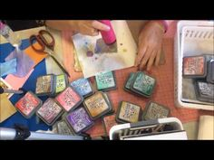 Using Tim Holtz Oxide Inks! - YouTube