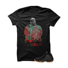 """Biggie Gucci Foams Black T Shirt. The Biggie Gucci FoamsBlack T Shirt is a premium quality sneakerhead t shirt. It matches with the Nike Foamposite One """"Gucci"""" Sneakers. *************************************************************** FOLLOW US ON INSTAGRAM: @illCurrency FOLLOW US ON TWITTER: @ill_Currency LIKE US ON FACEBOOK: facebook.com/illcurrency FOLLOW US ON PINTREST:pinterest.com/illcurrency"""