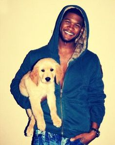 WHAT IS THIS, USHER WITH A PUPPY?!??!