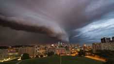 Kansas-based filmmaker Stephen Locke captured some stunning and decidedly ominous time-lapse footage of a dark arcus cloud rolling over Kansas City. The arcus formation occurs as the leading edge o...