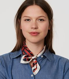 Primary Image of Redhot Square Silk Scarf