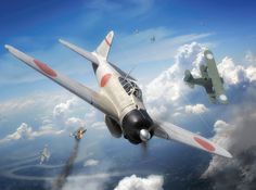 Mitsubishi A6M2 Zero vs Polikarpov I-15, China, September 13 1940. Digital Art by Adam Tooby