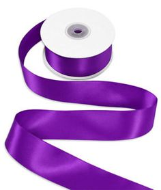 5 Yards Of Purple Double Faced Satin Ribbon by TutuOclockSomewhere