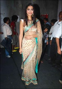 @SonamAKapoor in Beautiful #Saree