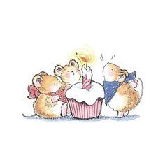 Birthday Happy Pictures Mice New Ideas Happy Pictures, Cute Pictures, Birthday Wishes, Birthday Cards, Cupcake Birthday, Birthday Ideas, Mouse Illustration, Penny Black Stamps, Cute Mouse