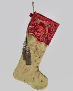 www.neimanmarcus.com  Jay Strongwater Floral Vine Christmas Stocking - Neiman Marcus