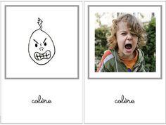 Les cartes des émotions - Ah l'heure Montessorienne