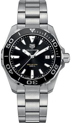 a7de634a30f Tag Heuer WAY111ABA0928 aquaracer stainless steel watch. Etiqueta Heuer  Aquaracer AutomáticaPulseira De Aço InoxidávelRelógio ...