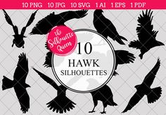 Hawk bird Silhouette Clipart Vector by The Silhouette Queen on Hawk Silhouette, Silhouette Clip Art, Silhouette Studio, Pencil Illustration, Graphic Design Illustration, Hawk Bird, Animal Cutouts, Art Clipart, Wedding Crafts