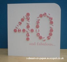 Card - Interesting way to use a hole punch.
