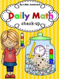 Daily Math from Little Achievers on TeachersNotebook.com -  (60 pages)  - Daily Math - Morning Work - Assessment