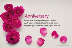 Happy Wedding Anniversary Wishes For Sister – Happy Anniversary Sister - Modernes Anniversary Quotes For Her, Anniversary Wishes Message, Happy Wedding Anniversary Wishes, Romantic Anniversary, Wedding Wishes, Anniversary Cards, Happy Birthday For Him, Birthday Wishes, Birthday Messages