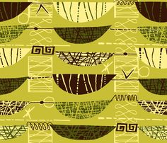 Mod Graphic green fabric by chicca_besso on Spoonflower - custom fabric