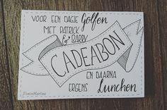 #cadeaubon #golf #lunchen #dutchlettering #handlettering #handletteren #denisemartina